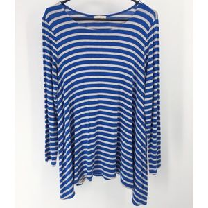 Anthropologie Puella Darcy Striped Swing Top